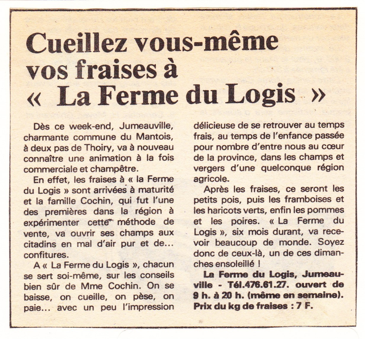 1980 Juin Le courrier de Mantes$ 001